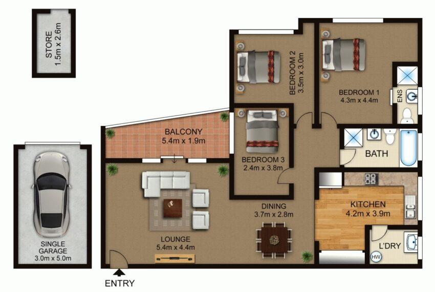 Floor Plan Unit 6